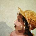 M mit Hut, 2006, Acryl auf Leinwand, 70 x 50 cm
