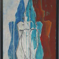 einstimmen, 2016, Acryl auf Malplatte, 70 x 48 cm