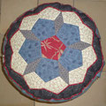 Meditation Cushion Front side Yoga Kissen, again with a red Paspel.