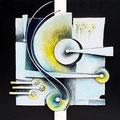 Estensione musicale - terracotta policroma - cm. 120x60 - 2012