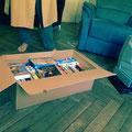 Eine Kiste voller VHS-Pornos..Danke Peter!!!