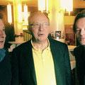 Beat & Pascal mit Beni Thurnheer, der freundlicherweise auf der Tonebene von THE ACCIDENTAL PERVERT mitmacht...am 25.September 2014
