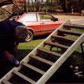 30. März 1999 Bau der Leitern bzw. Treppen für die Zwischenböden