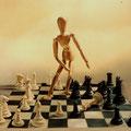 FUERA DE LUGAR. Óleo sobre tela, 200 x 200 cm. Jorge Luna.