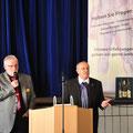 links: Claus Buchhorn, Leiter der SHG Notbremse Fulda mit Manfred Letsche