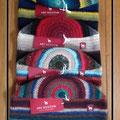 Schöne gehäkelte Mützen aus 100%- iger Alpakawolle - jede Mütze ein Unikat - in Peru hergestellt