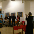 Освещаването на училището от православния отец Емил и с присъствието на католическия отец Йоан
