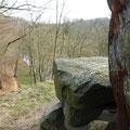Blick vom Burgberg ins Rödertal vor der Marienmühle