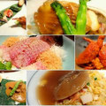 京都「黒猫軒」のお料理。本日は今年の締めくくりとあって大奮発。鯛のお刺身・鮑に牛肉、イセエビ・ふかひれ大ご馳走でした。