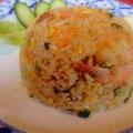 宝塚南口のタイ料理店「マイタイ」のお料理。カオバッドクンは辛くないタイの海老炒飯です。