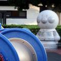 高知市内の小さな児童公園にもアンパンマン。さすがですね。