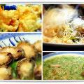 神戸「東光」にて森田空美着付け教室の忘年会。あわびのお料理・鯛の中華風お刺身・ふかひれスープ・春巻き・えびの天ぷら。