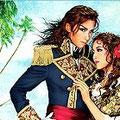 宝塚歌劇花組公演「カリスタの海に抱かれて」のポスター。明日海りおさんの軍服姿が凛々しいです。