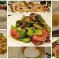 神戸北野のイタリアンレストラン「トラットリア・コッチネラ」のお料理。リーズナブルでボリュームたっぷりです。