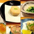 森田空美着付け教室の同期生たちとの忘年会。「新ばし星野」のお料理の数々。一見何気なく実は手の込んだお料理ばかりです。