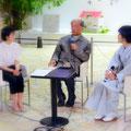 大阪梅田阪急百貨店のシークイベントにて。永松仁美さん・吉岡幸男さん・田中敦子さんの3人。