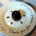 「ル・セット」お祝いメッセージの描かれたデザートその1。