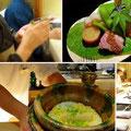 水無月の献立その2。八寸・土鍋で炊いたご飯。祇園「にしかわ」にて。
