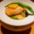 神戸北野町のフレンチ割烹「新月」さんのお料理。