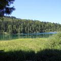 Blick von der Hütte am See