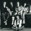 Oben: Tony Stöckli, Andy Wyrsch, Guido Strassmann, Kurt Roos. Unten Andy Portmann 1989