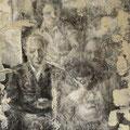 """""""Bildnis eines alten Familienfotos"""". Öl und Strukturpaste auf Leinwand, 104 x 80 cm, 2011-2016"""