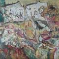 """""""Ein misslungener Aufbruch"""", Öl auf Leinwand, 77 × 100 cm, 2008"""