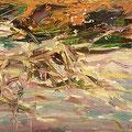 """Die Abendröte"". Öl auf Leinwand, 27 x 46 cm, 2009"