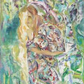 """""""Unterwegs mit seinem selbst"""". Ölmalerei auf Leinwand 76 × 58 cm, 2009"""