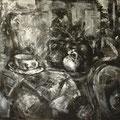 """""""Atelier (Musik)"""". Öl auf Leinwand, 48 x 60 cm, 2014-2016"""