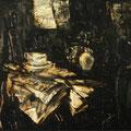 """""""Eine Tasse Kaffe"""". Öl auf Leinwand, 64.5 x 85 cm, 2013-2016"""