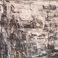 """""""Im Spiegel ihrer selbst"""". Schwarzweiße Ölmalerei auf Leinwand 54 × 68 cm, 2011-2012"""