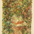 """""""Weißer Hut II"""", Öl auf Leinwand, 32.5 x 19.5 cm, 2017"""