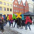 Die von Schließung bedrohte Kunstschule ataraxia, einer der Hauptschwerpunkte, war mit kreativer und ausdauerder Energie dabei.
