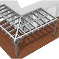 Terrassendach über Eck
