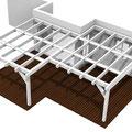 Terrassenüberdachung Ecklösung