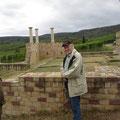 An der Römerkelter - beispielhaft wiedererrichtet - Foto I. Pedal