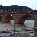 Neckar-Hochwassser auch in Heidelberg / PeWe