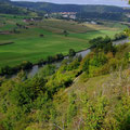 Blick auf die Neckarschleife bis Binau, Foto: pewe