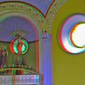 Kreuzbergkapelle - innen mit harmonischer Farbgebung