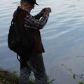 In DDD-Lauerstellung - versunken in räumlicher Tiefe am Flachgewässer  © H. I.