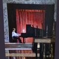 LE PIANISTE - Acrylique sur canevas - 25x26 - VENDU