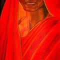 L'INDIENNE - Acrylique sur canevas - 48x24 - 300$