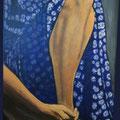 ROBE FLEURIE - Acrylique sur canevas - 22x31 - 400$