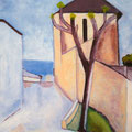 MAISON MODIGLIANI - Acrylique sur canevas - 18x24 - VENDU