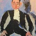 LE GARÇON D'HONNEUR SOUTINE - Acrylique sur canevas - 17x21 - VENDU