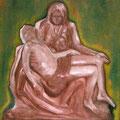 LA PIETA - Huile sur canevas - 20x24 - 100$