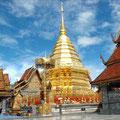"""Einer der bekanntesten Tempel Thailands, der Doi Suthep. Ein """"muss"""" für jeden Chiang Mai Besucher den die Fahrt auf diesen Berg ist schon ein Erlebnis"""