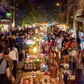 Es gibt viele wunderbare Märkte auf den Strassen Chiang Mai's. Hier der Sunday Market welche wie der Name schon sagt, immer sonntags stattfindet