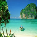 Die Maya Bay auf Koh Phi Phi unweit von Phuket, eine traumhafte Gegend